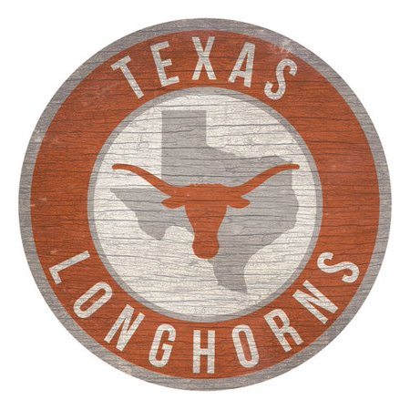 Texas Longhorns Framed (Texas Longhorns Sign Wood 12 Inch Round State)