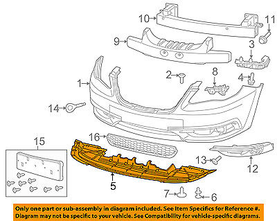CHRYSLER OEM Front Bumper-Closure Panel 68105431AA