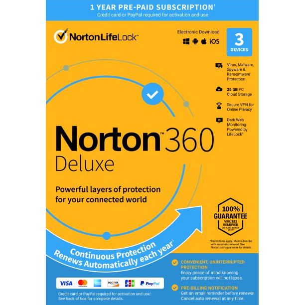 NORTON 360 DELUXE 3 DEVICE