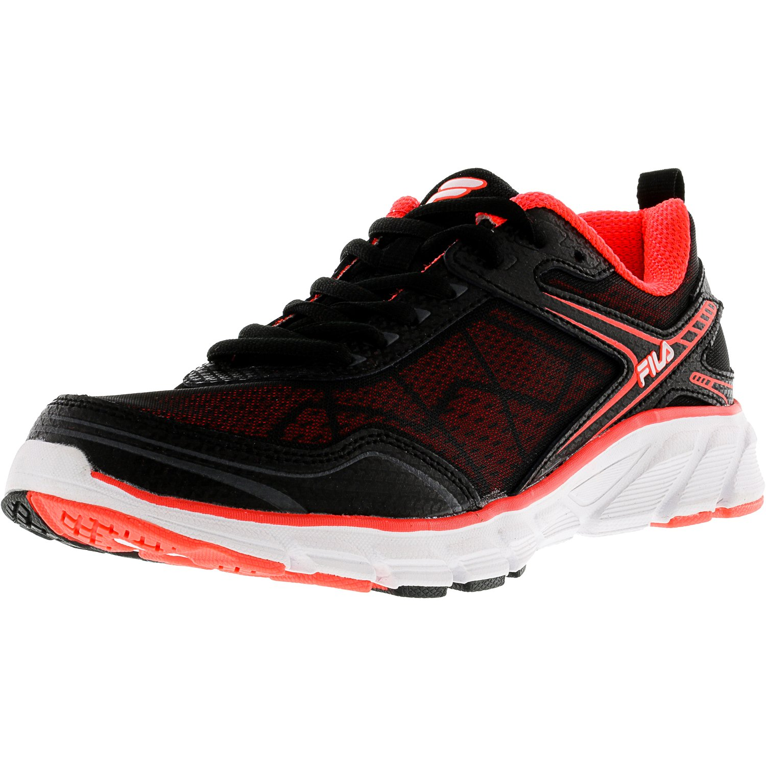 Fila Women's Memory Granted Fiery Coral   Black White Ankle-High Running Shoe 8.5M by Fila