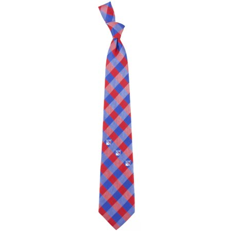 Henry New York Tie - New York Rangers Woven Poly Check Tie - No Size