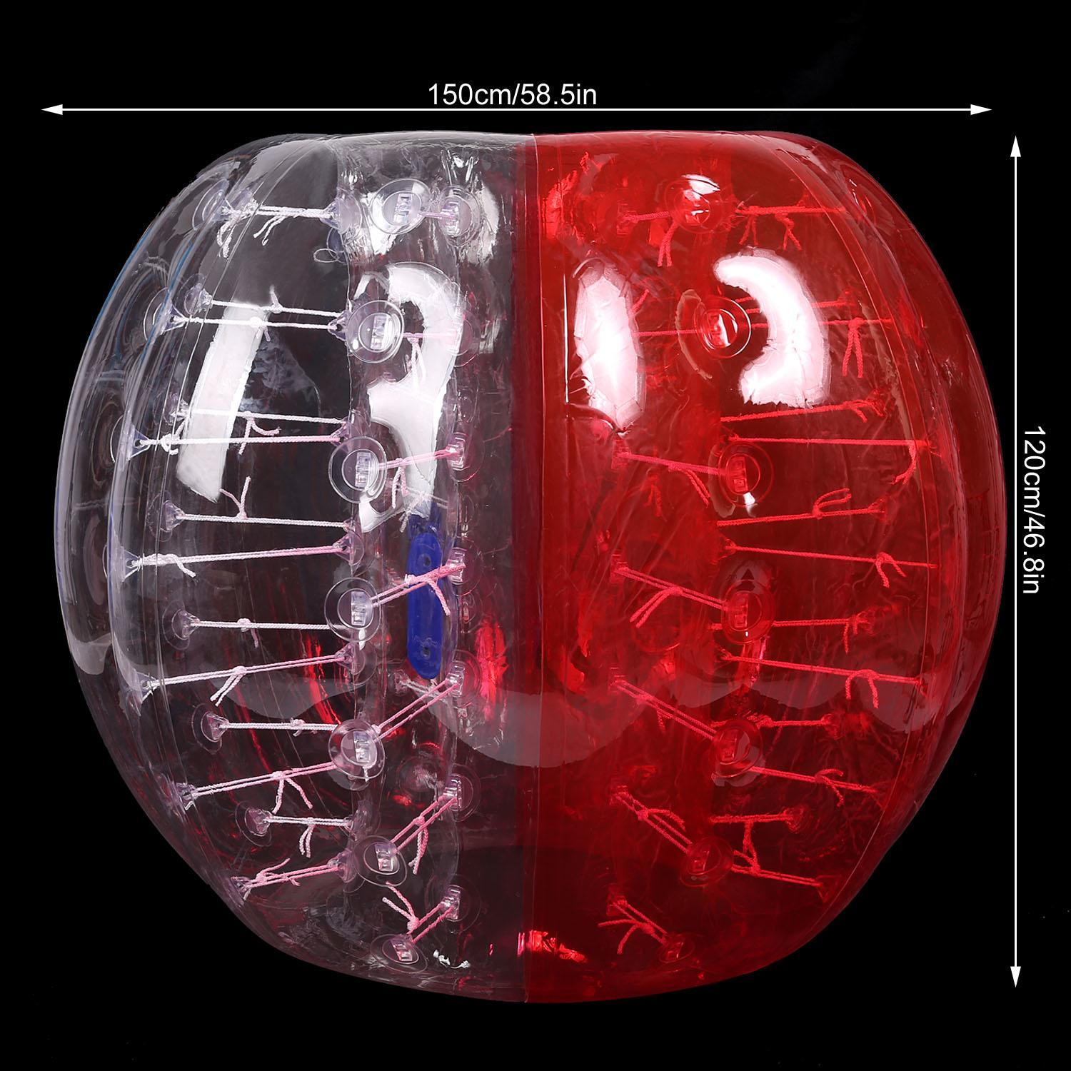 1 PC 1.5M Inflatable Bumper Ball Body Zorbing Ball Zorb Bubble Soccer Football by