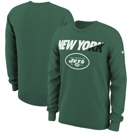New York Jets Nike Wedge Performance Long Sleeve T-Shirt -