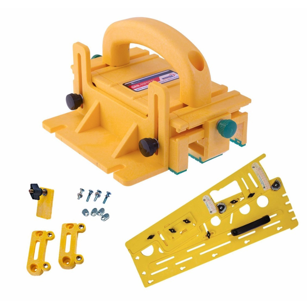 Microjig Grr-Ripper 3D Pushblock with Microdial Tapering Jig and Handle Bridge