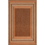 Liora Manne TER23173674 Terrace 1736-74 Etched Border Terracot 23 x 35 In. Rugs