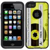 Skin Decal for OtterBox Commuter Apple iPhone SE Case - Retro Clear Cassette Tape Yellow OtterBox Commuter Apple iPhone SE Skin Decal Retro Clear Cassette Tape Yellow