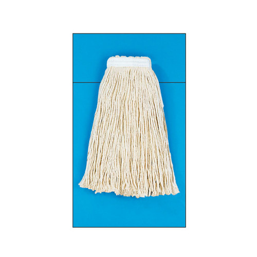 UNISAN Rayon Fiber Cut-End Mop Head in White