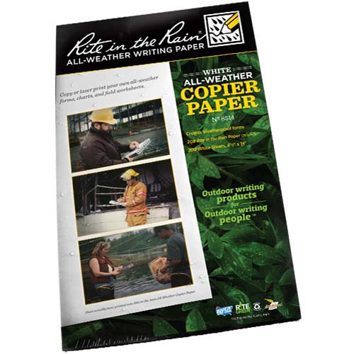 "Rite in the Rain Copier Paper Legal Size 8.5"" X 14"" 200 Sheet Pack"