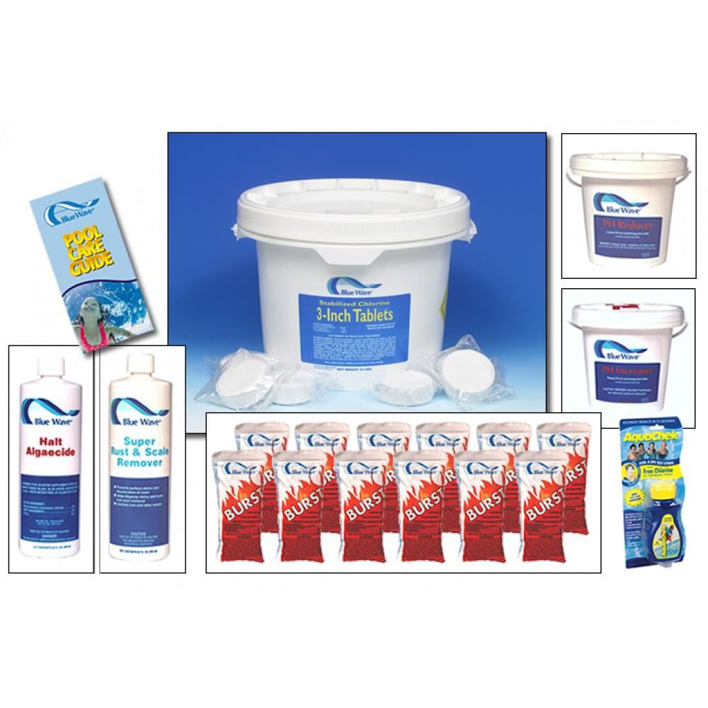 BlueWave NY998 Chemical Package-24' Round Or Larger A/G Pools & All I/G Pools