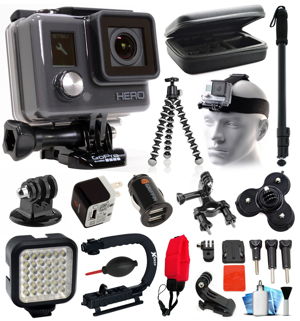 GoPro HD HERO Waterproof Action Camera Camcorder with Deluxe Sports Bundle includes Travel Case ...