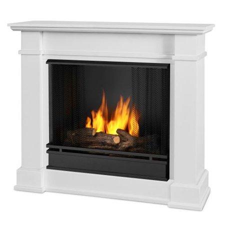 Devin Indoor Ventless Gel Fireplace White