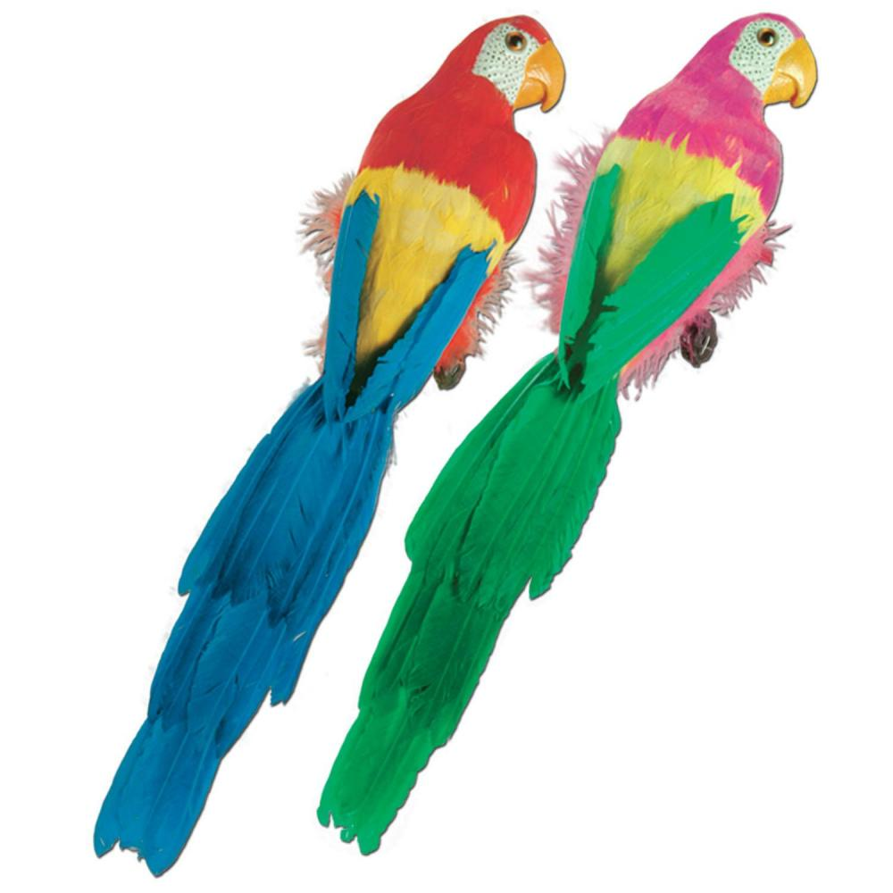 Beistle (6ct) Luau Party Feathered Parrots