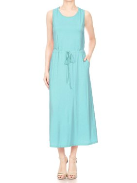 fb746ee0a82 Product Image Anna-Kaci Summer Womens Casual Sleeveless Knit Maxi Tank Top  With Side Pockets Long Dress