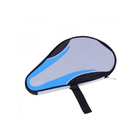 Topumt Waterproof Dustproof Zipper Steel Ring Ping Pong Table Tennis Bats Storage Bag