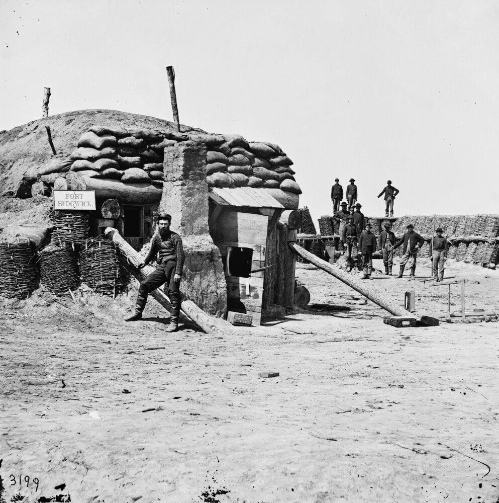 Civil War Petersburg C1864. Na Bombproof Shelter In