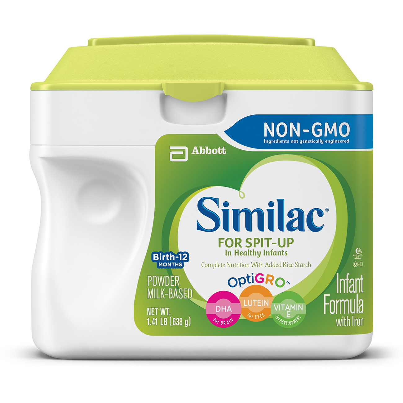 Similac for Spit-Up NON-GMO Infant Formula with Iron, Powder, 1.41 lb (Pack of 6)
