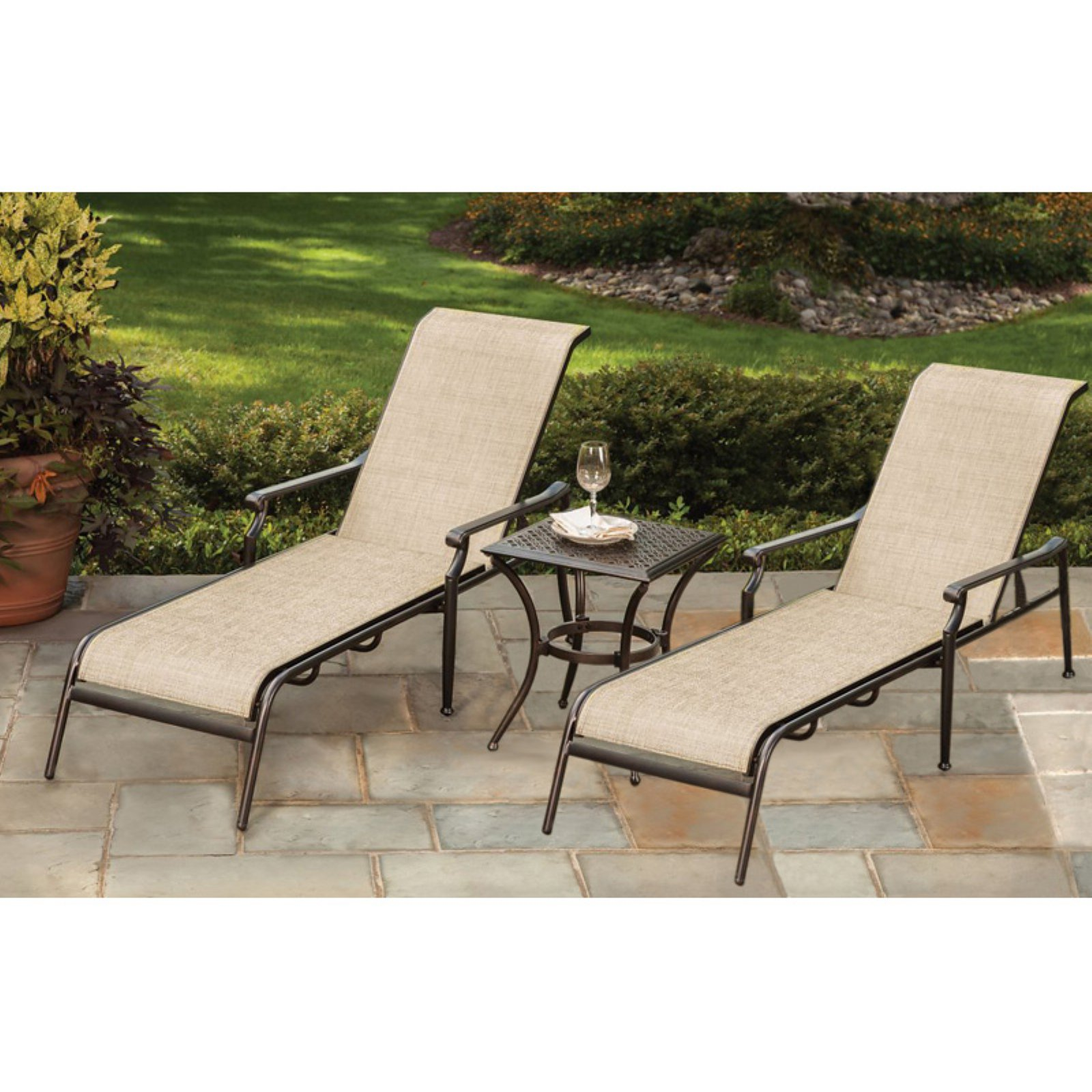 Oakland Living Bali 3 Piece Outdoor Chaise Lounge Set