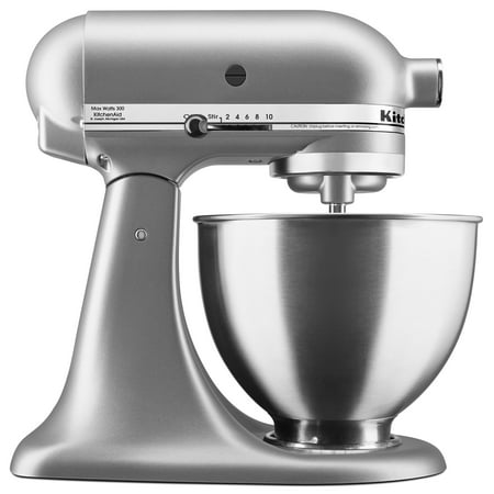 KitchenAid Deluxe 4.5 Quarts Silver Tilt-Head Stand Mixer