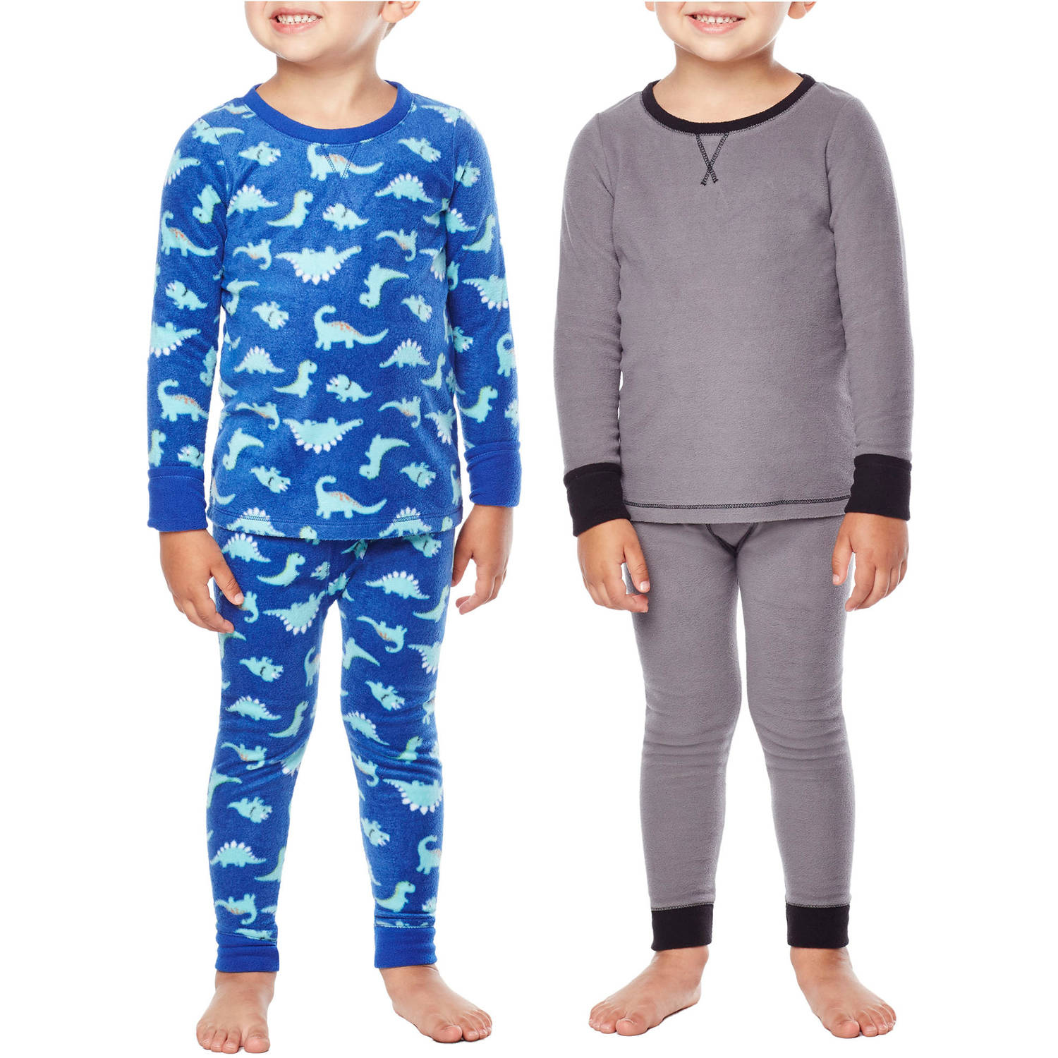Climate Right by Cuddl Duds Toddler Boy Fleece Warm Underwear 4 PC set