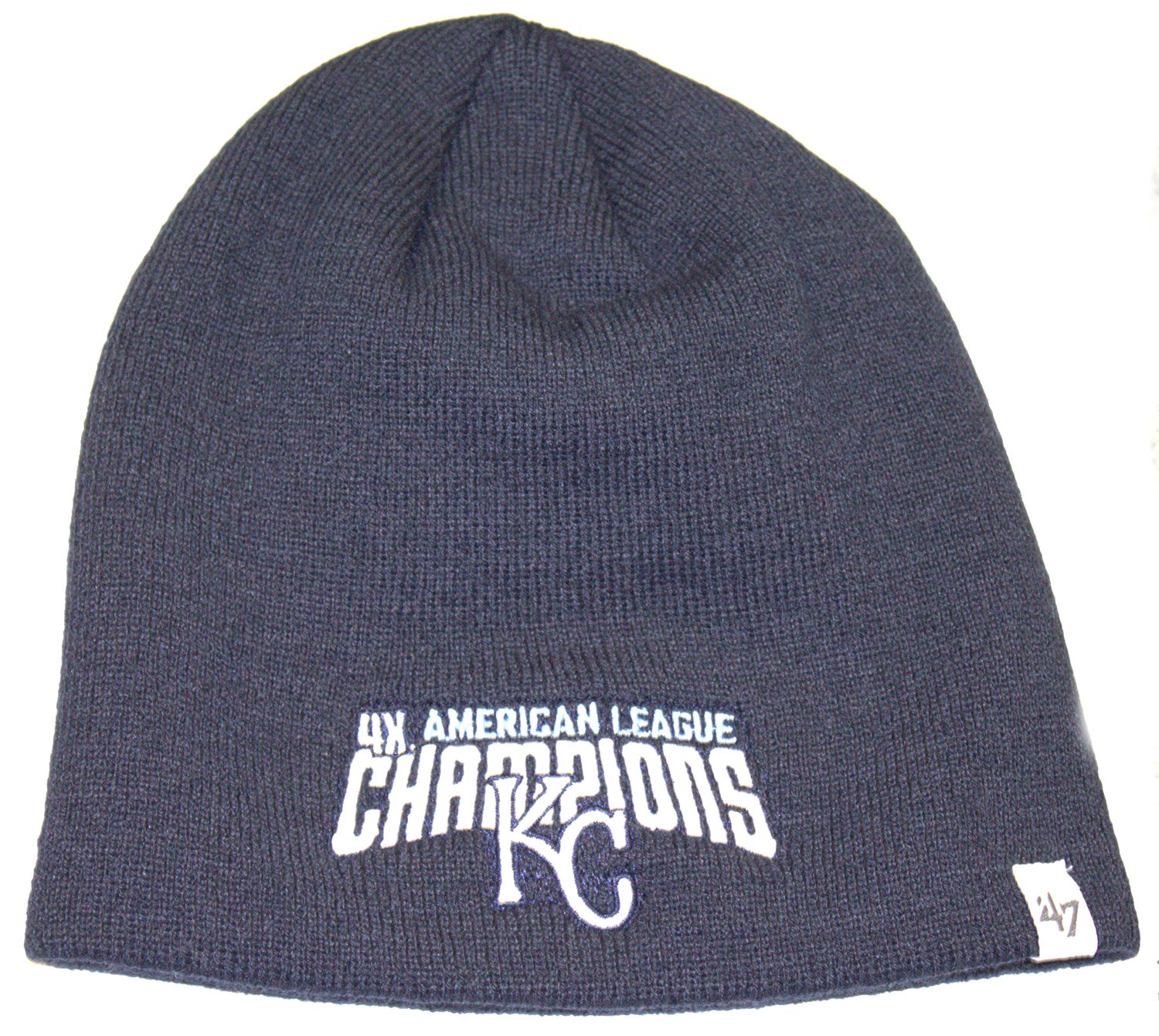 MLB Officially Licensed Kansas City Royals '47 Brand 4X American League Champions Knit Hat Beanie Cap Lid by '47 Brand
