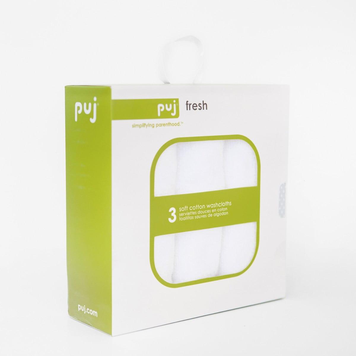 Puj Fresh 3-Pack Washcloths by Puj
