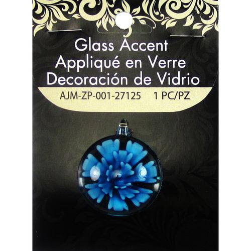 Blue Moon Beads Accent, Glass Flower