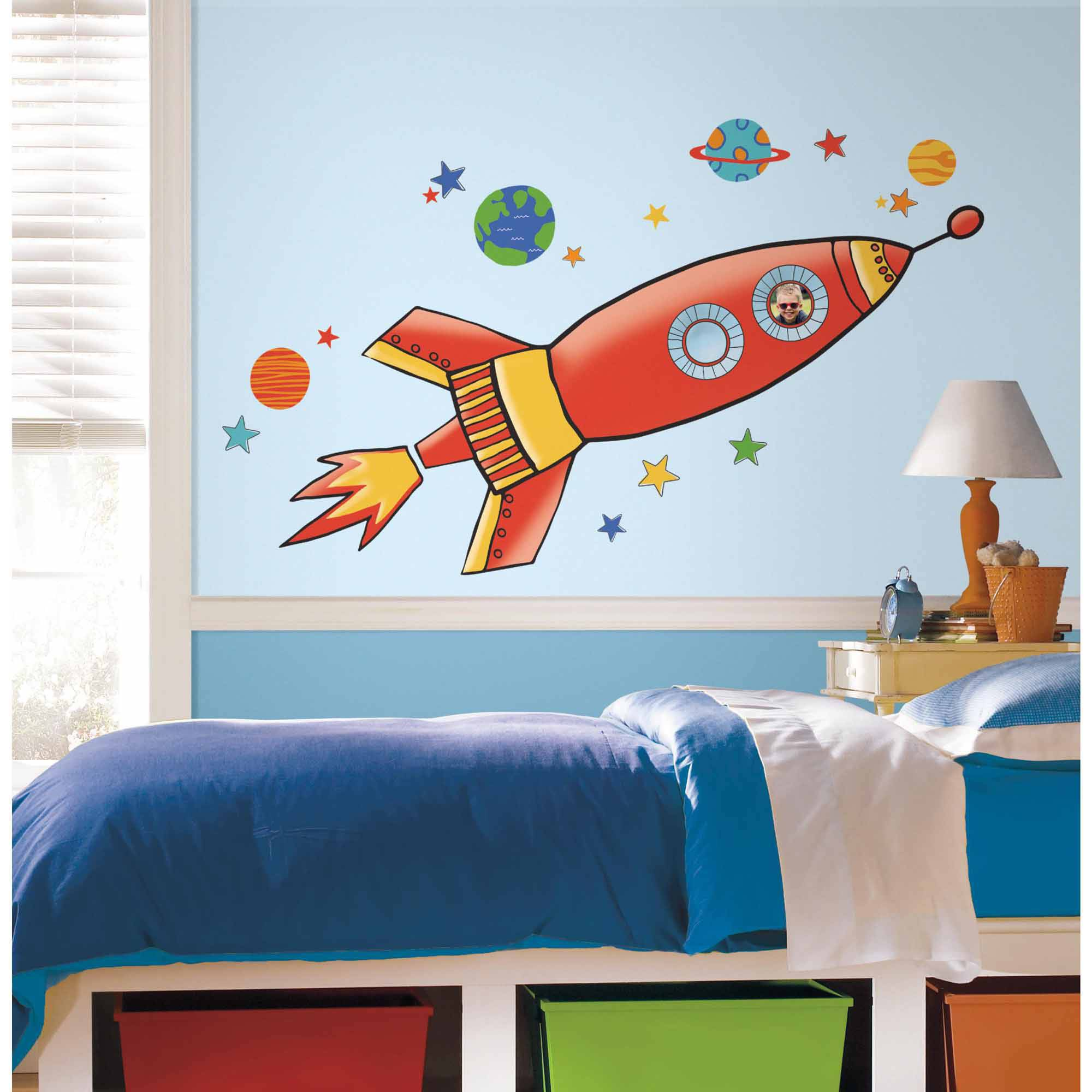 Rocket Peel and Stick Giant Wall Decals