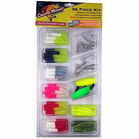 Leland lures crappie magnet 96 piece kit for Fishing kit walmart