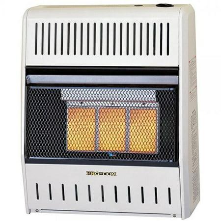 Procom ML150HPA Vent Free LP Gas Wall Heater - 3 Plaque, 15,000 BTU, Manual
