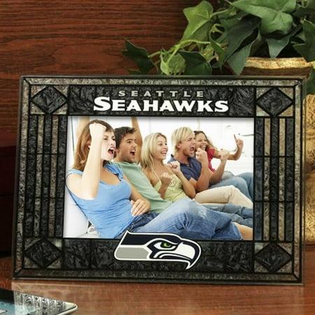 Seattle Seahawks Art-Glass Horizontal Picture Frame - No - Seahawks Birthday