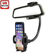 Universal 360℃ Car Rearview Mirror Mount Stand Holder Cradle For Cell Phone GPS