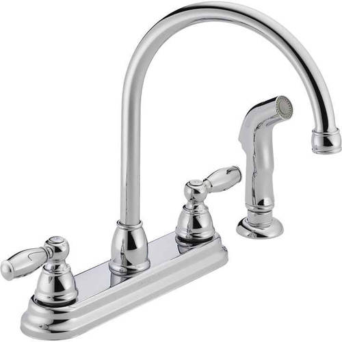 Peerless Widespread Kitchen Faucet and Side Spray