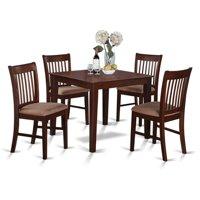 East West Furniture 5 Piece Slat Back Breakfast Nook Dining Table Set