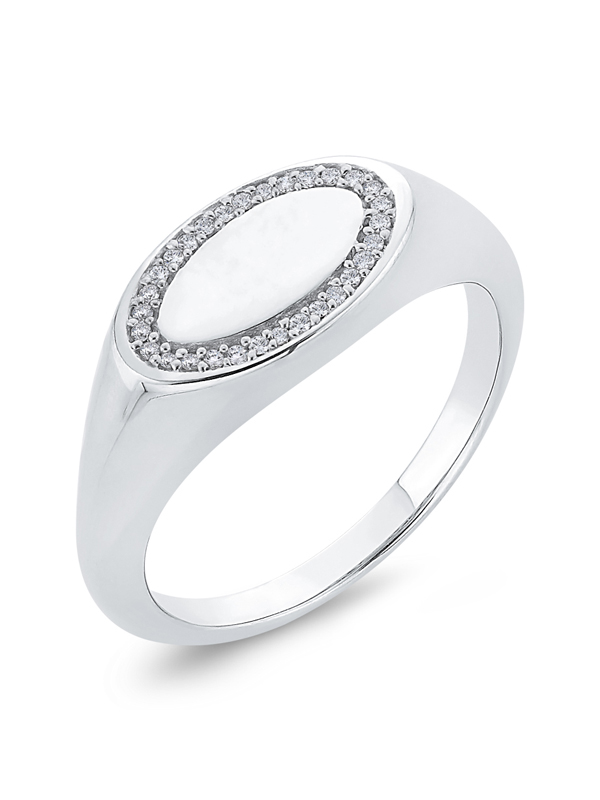 Diamond Wedding Band in 10K Yellow Gold G-H,I2-I3 Size-9.75 1//20 cttw,