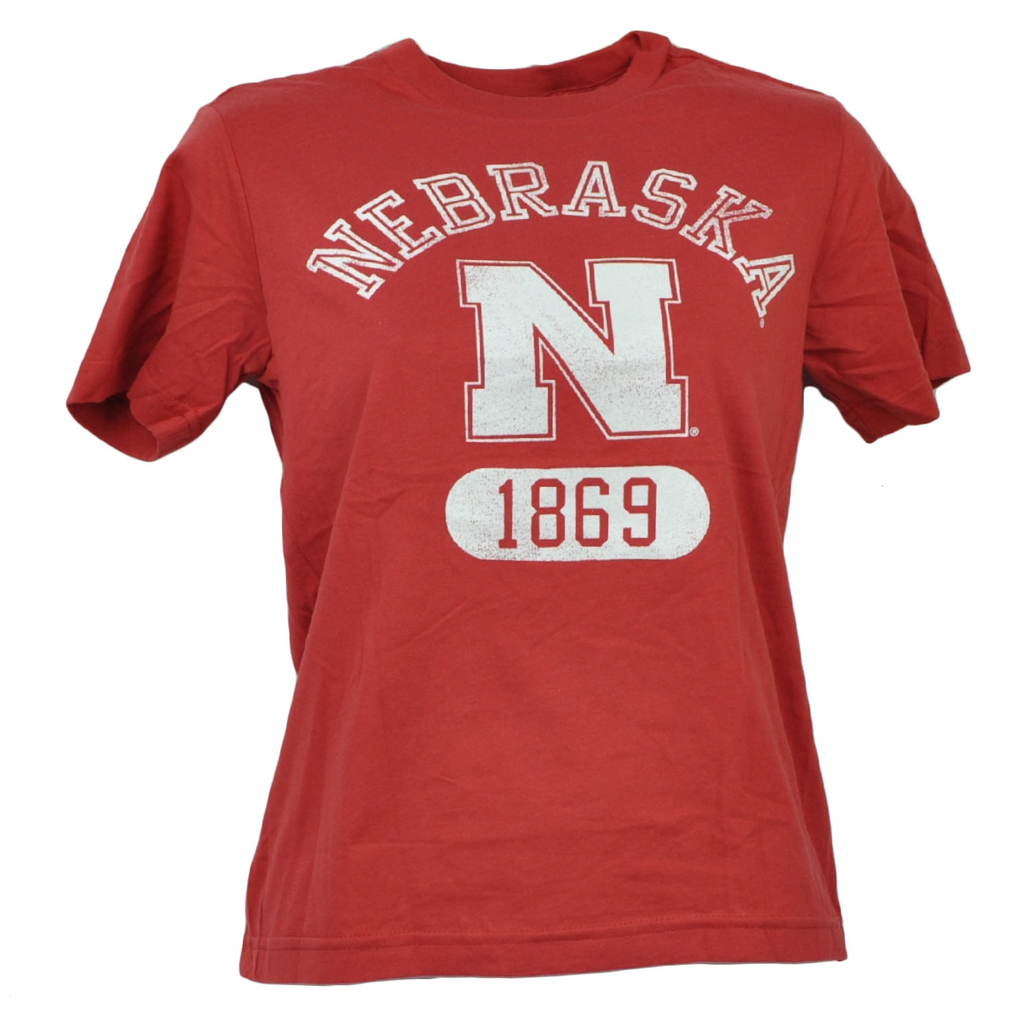 NCAA Nebraska Cornhuskers Tshirt Kids Short Sleeve Distressed Crew Neck XSmall