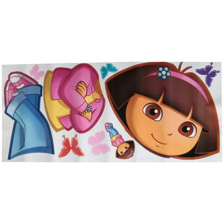 Dora The Explorer Wall Decor (Nickelodeon® Dora the Explorer Peel and Stick Wall Decals 9 ct Pack)