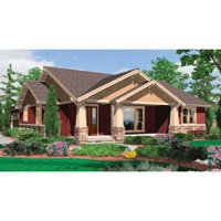 TheHouseDesigners-5258 Construction-Ready Craftsman House Plan with Crawl Space Foundation (5 Printed Sets)