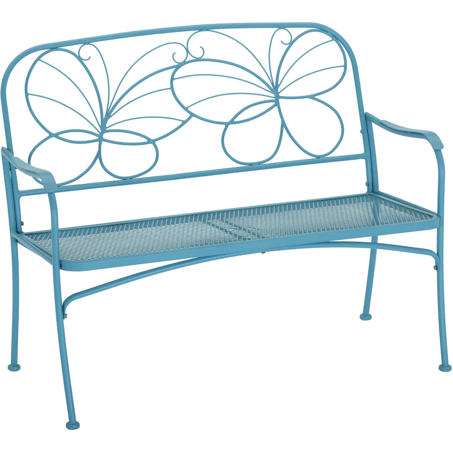 Astounding Mainstays Butterfly Outdoor Patio Bench Walmart Com Evergreenethics Interior Chair Design Evergreenethicsorg