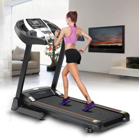 Hifashion 12 Running Program Electric Folding Treadmill With Manual Incline App control/Heart Rate