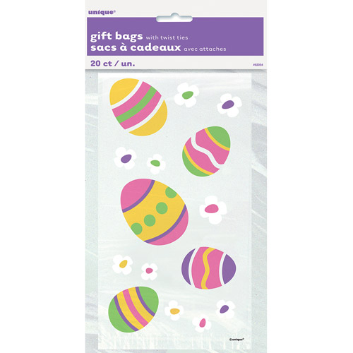 Easter Cellophane Bags, 20-Count