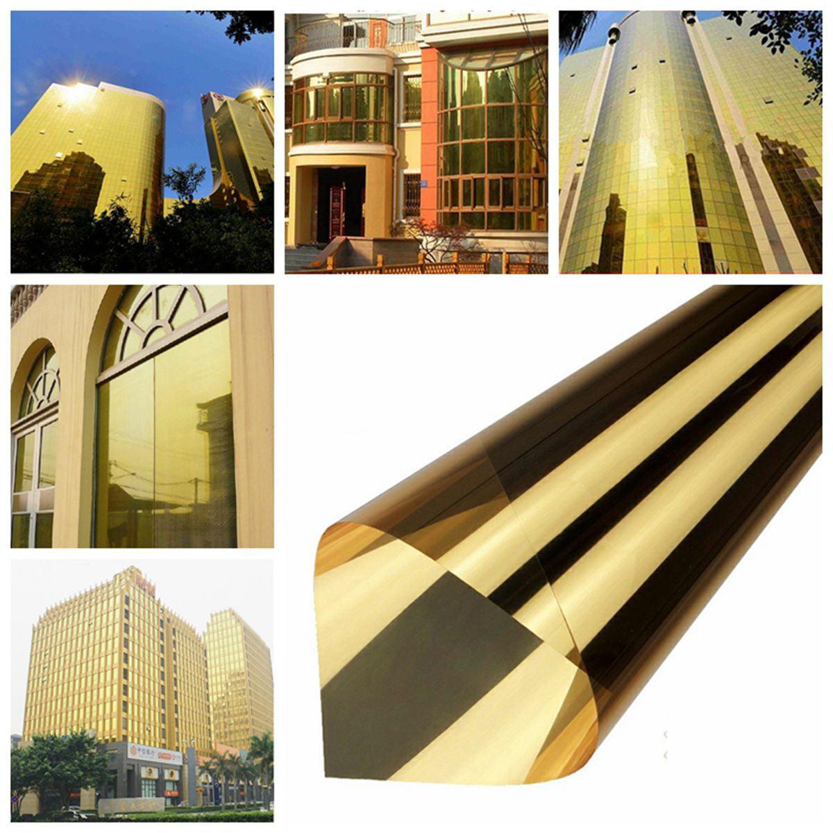"Elfeland 19.6""x118"" 15% VLT Solar Reflective Window Film Insulation Stickers One Way Mirror"