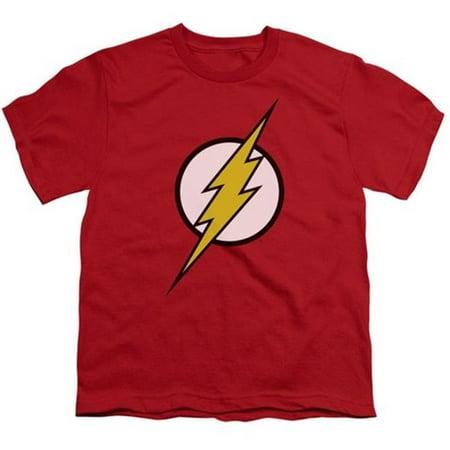 Jla-Flash Logo Short Sleeve Youth 18-1 Tee, Red - Small - image 1 de 1