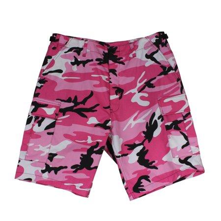 Pink Camo BDU Combat Shorts