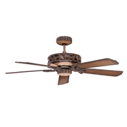 Ponderosa Ceiling Fan in Old World Leather Finish