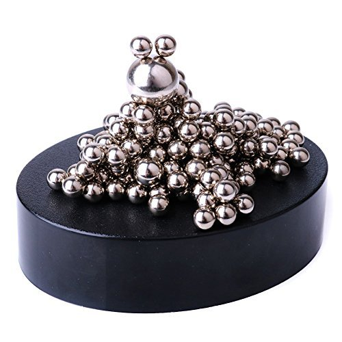 Glantop Magnetic Sculpture Desk Toy for Intelligence Development and Stress Relief (Set of 170 Balls, 1 Magnet... by