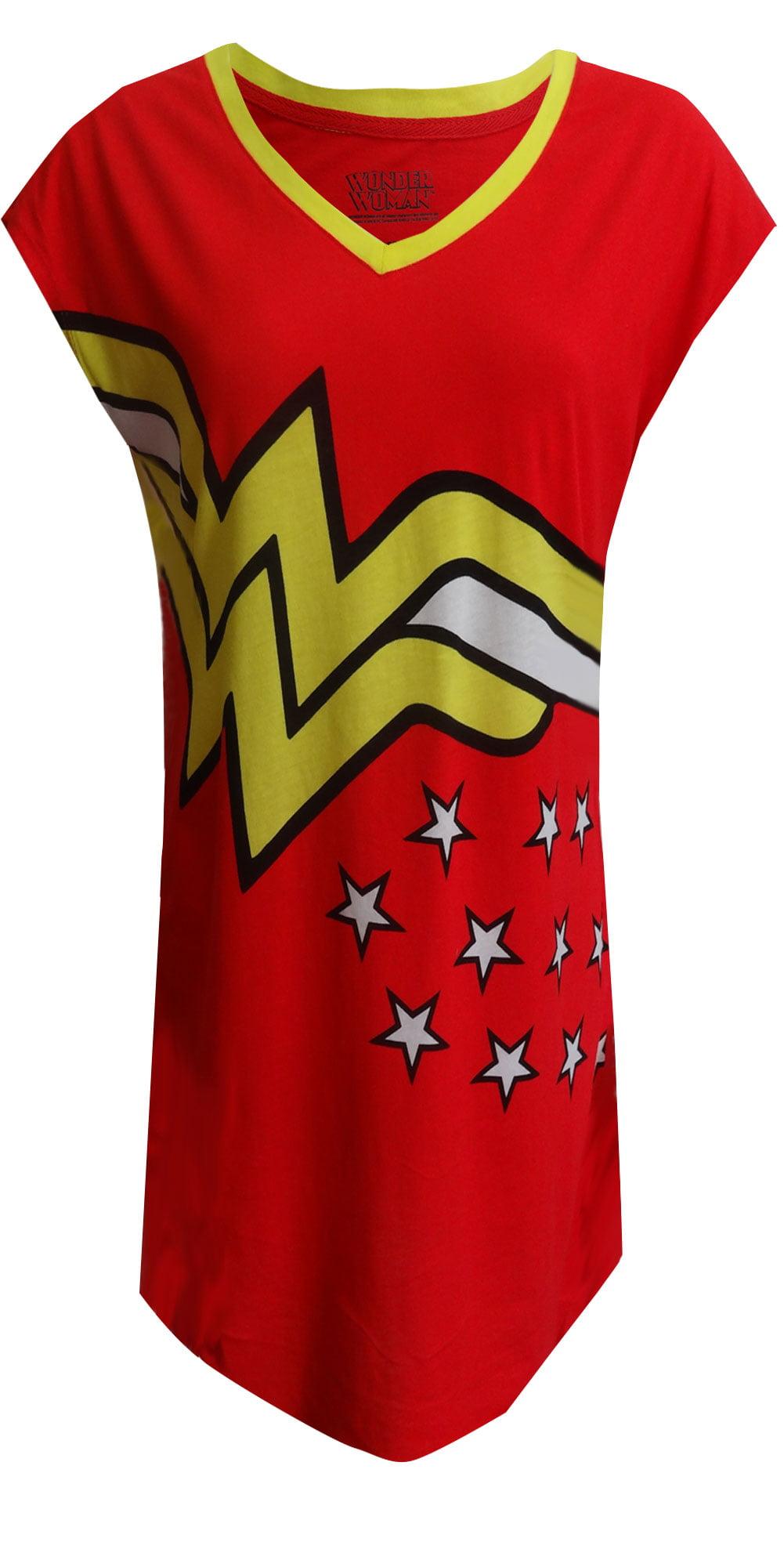 DC Comics Wonder Woman Logo Plus Size Nightshirt - Walmart.com