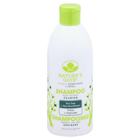 Nature's Gate Tea Tree Calming Shampoo for Irritated, Flaky Scalp 18 Oz (Flaky Scalp)