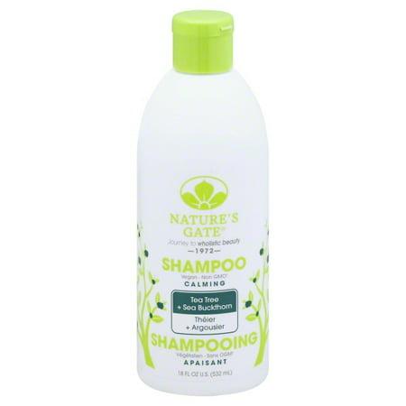 Nature's Gate Tea Tree Calming Shampoo for Irritated, Flaky Scalp 18 Oz - Organic Natures Gate
