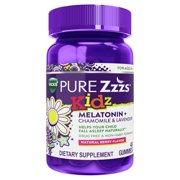 Vicks PURE Zzzs Kids Melatonin Sleep Aid Gummies,Berry, 0.5mg, 48 ct
