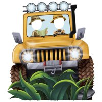 Jungle Party Jeep Standee Party Prop, 4.5' Tall